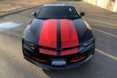 Black_Chevy_Camaro_Racing_Stripes_1