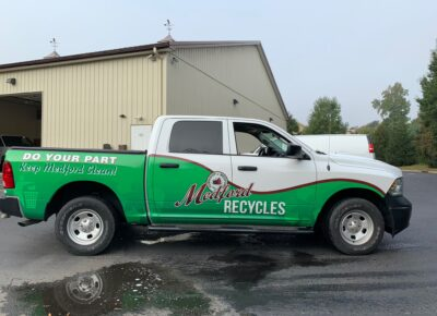 Medford Recycles Vehicle Wrap